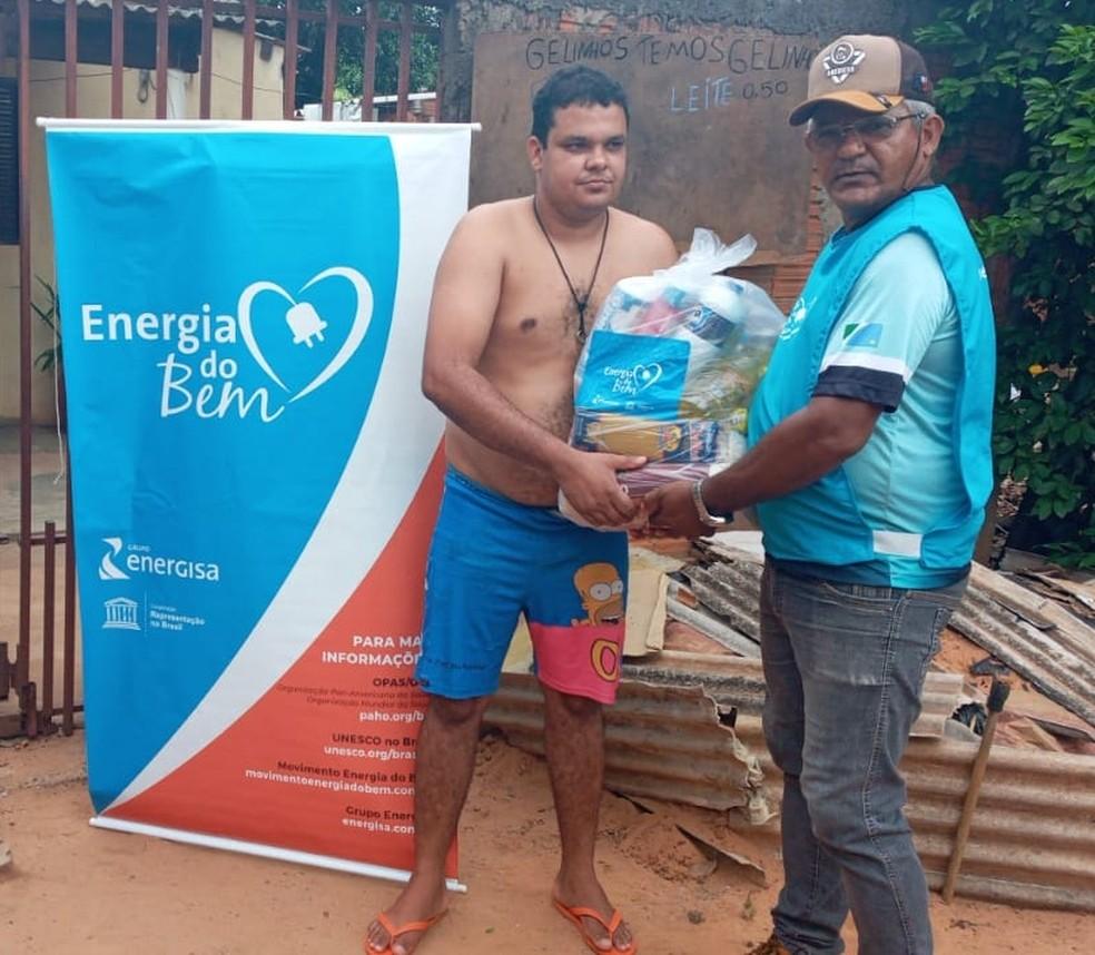 Primeira etapa de doação beneficiou 200 famílias em Campo Grande — Foto: Energisa/Divulgação