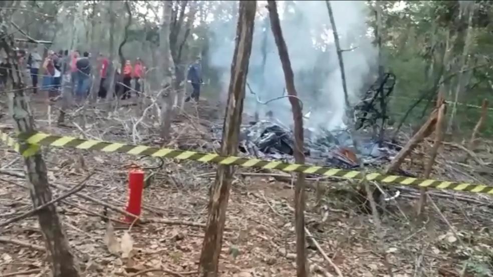 Avião cai e deixa mortos em Bom Despacho  (Foto: Acervo Pessoal/Wagner Assis)