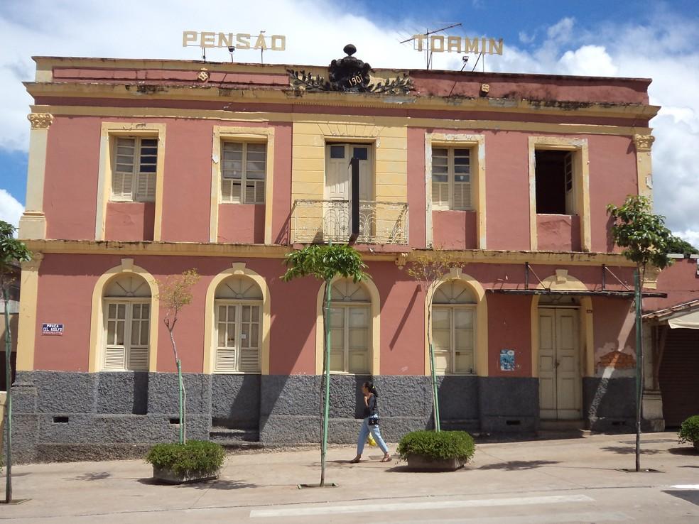 Antiga 'Pensão Tormin' no Centro de Araxá (Foto: Ministério Público de Minas Gerais/Divulgação)