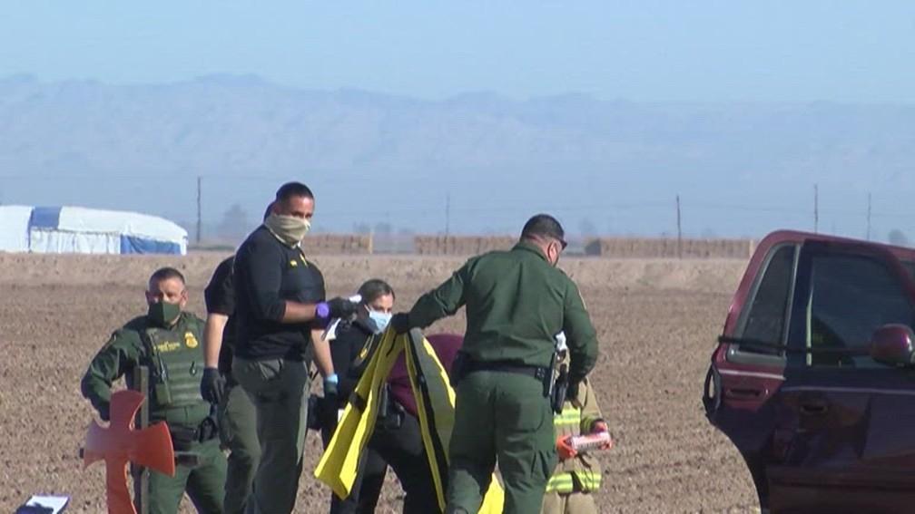 Acidente fatal no sul da Califórnia, EUA, em 2 de março de 2021 — Foto: Reprodução/NBC