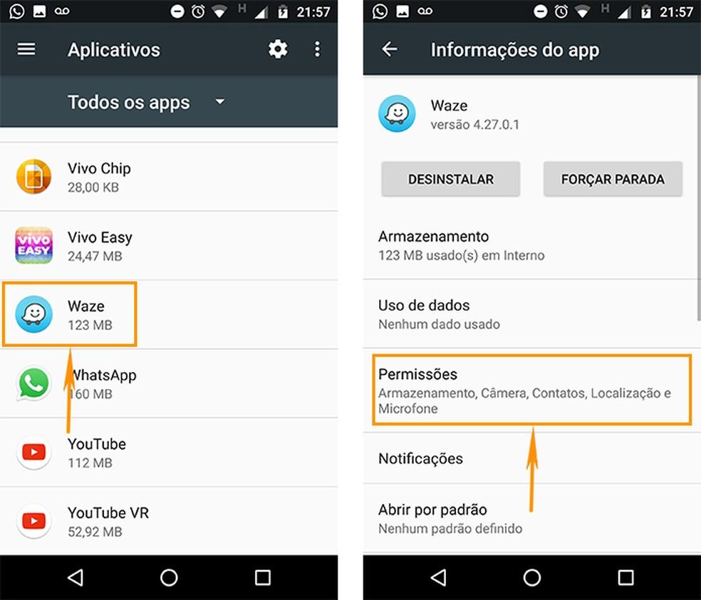 Encontre as permissões de um aplicativo específico no celular Android (Foto: Reprodução/Barbara Mannara)