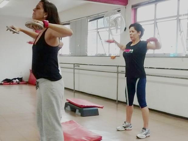 Mônica Ferreira professora de academia (Foto: Mônica Ferreira/ arquivo pessoal)