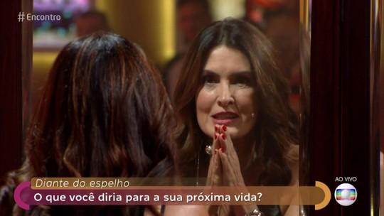 Fátima Bernardes manda mensagem para ela mesma no futuro