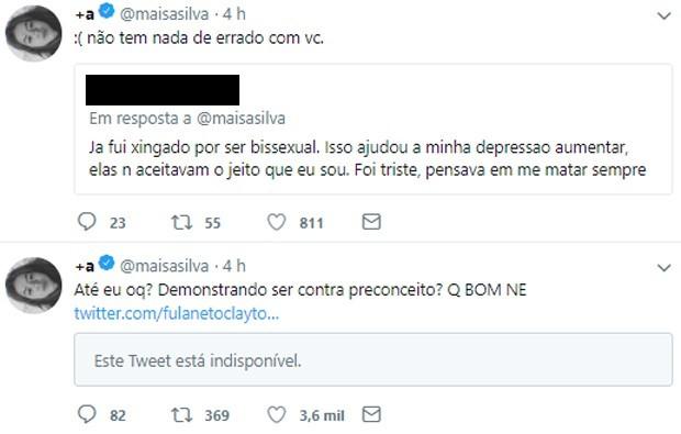 Maisa Silva lamenta morte de seguidor por homofobia (Foto: Reprodução/Twitter)