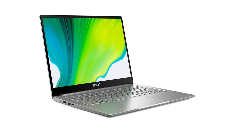 Acer Swift 3 tem tela de 13,5 polegadas, certificação Athena e chip de 10ª geração da Intel — Foto: Divulgação/Acer