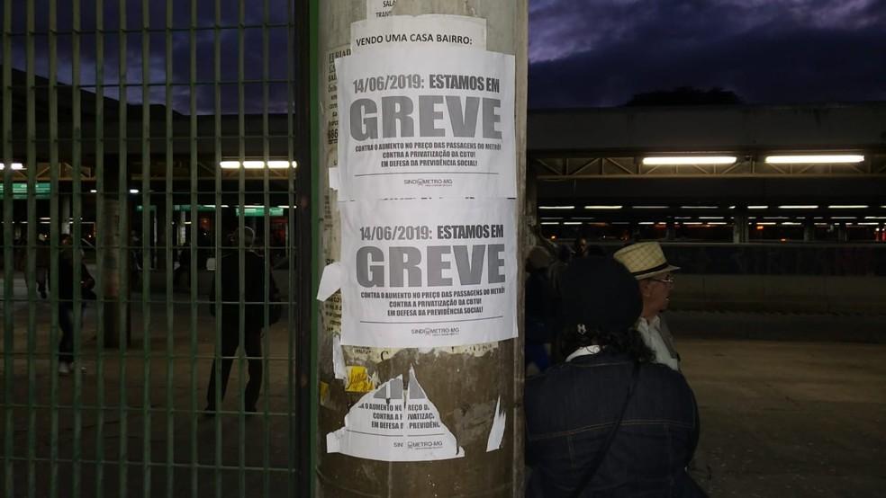 Estação do metrô está fechada no bairro Eldorado, em Contagem, na Grande BH. — Foto: Alex Araújo/G1