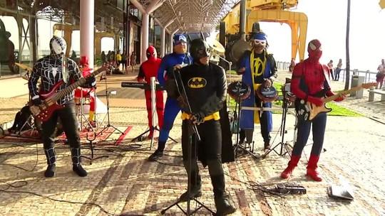 Banda Vingadores do Brega fez o som do É do Pará deste sábado
