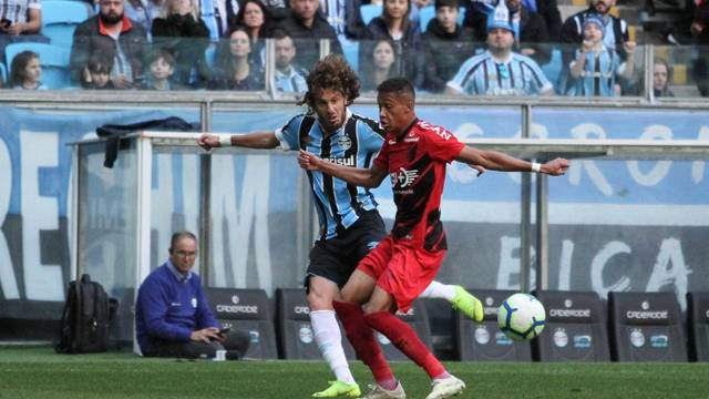 Gallardo e Vitinho Grêmio x Athletico-PR