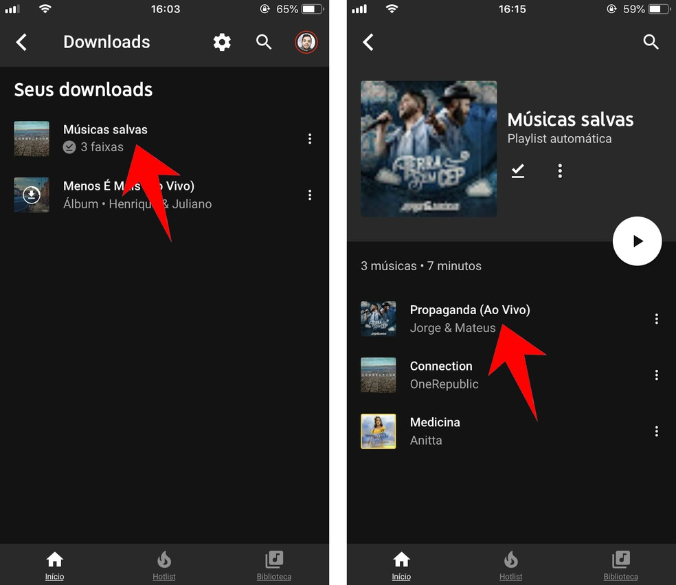 Como Baixar Músicas No Youtube Music Para Celular Android E Iphone Players Techtudo