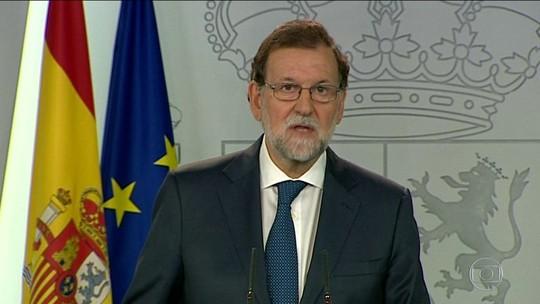 Espanha vai iniciar processo para suspender autonomia da Catalunha