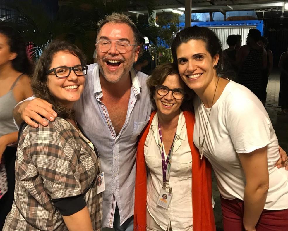 Os preparadores Tatiana Muniz, Marcello Bosschar, Leila Medeiros e Maria Beta Perez — Foto: Arquivo pessoal