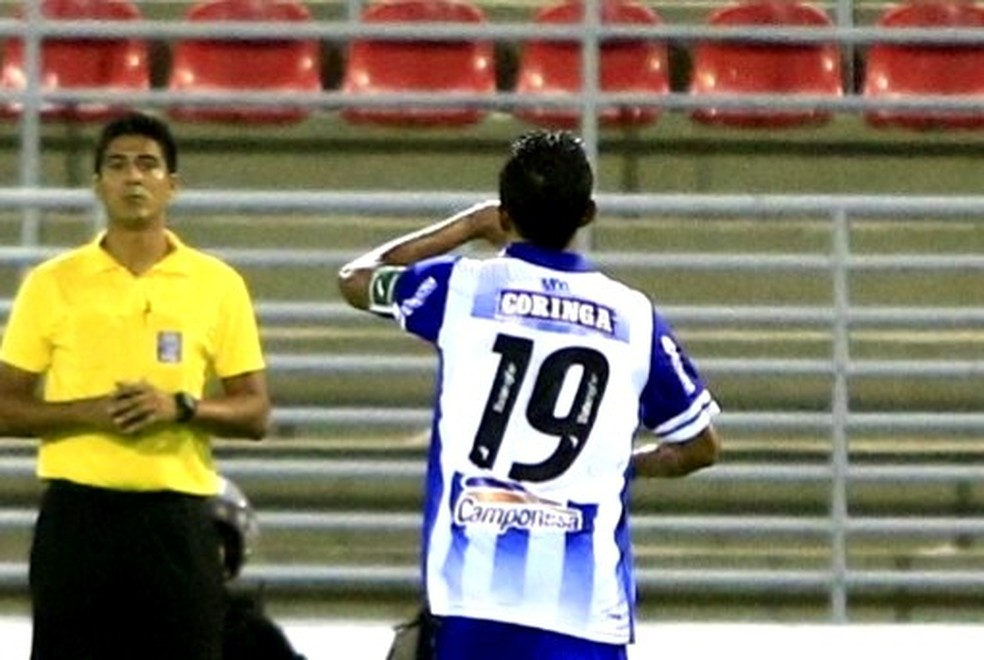 Didira marcou o segundo gol do CSA — Foto: Ailton Cruz / Gazeta de Alagoas
