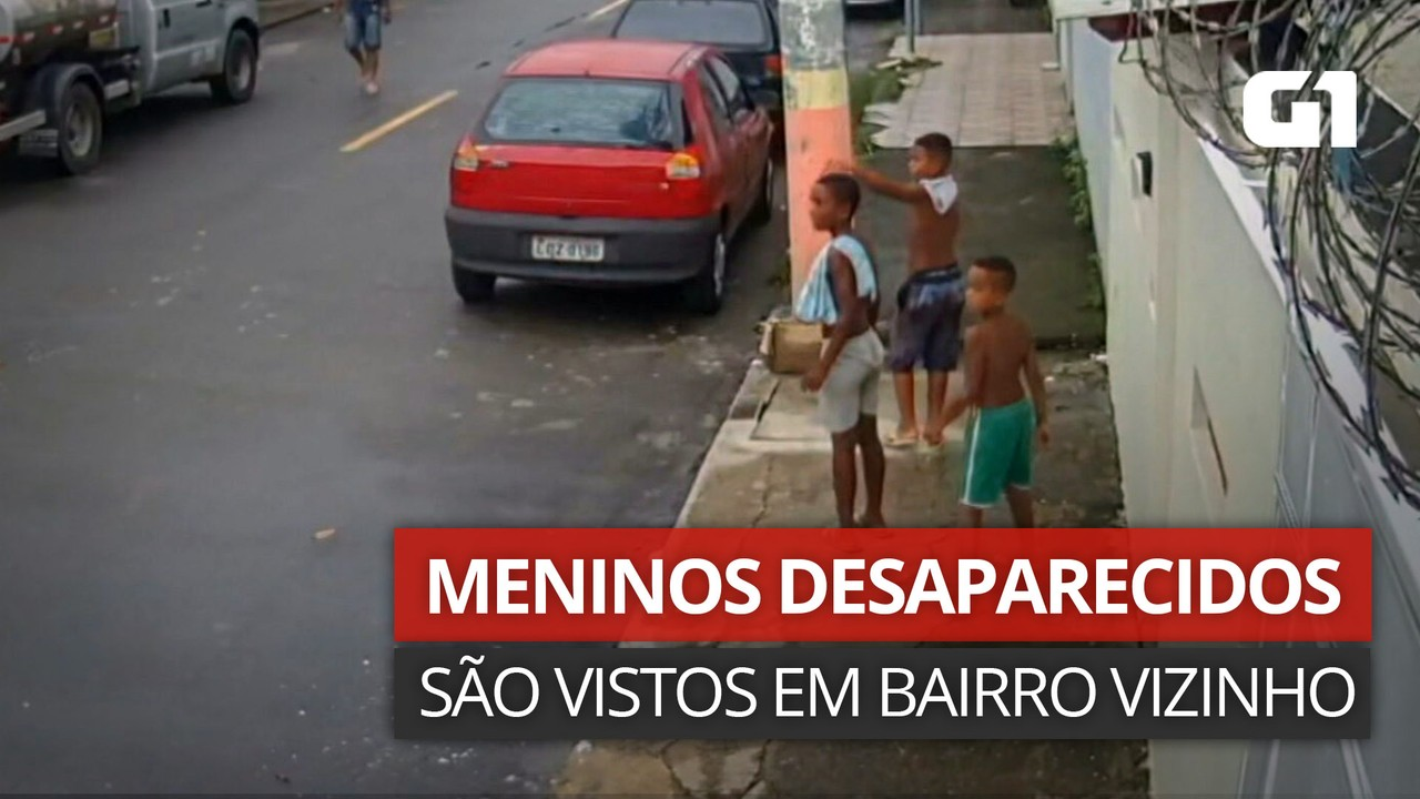 VÍDEO: Imagens mostram meninos desaparecidos em Belford Roxo andando em rua de bairro vizinho