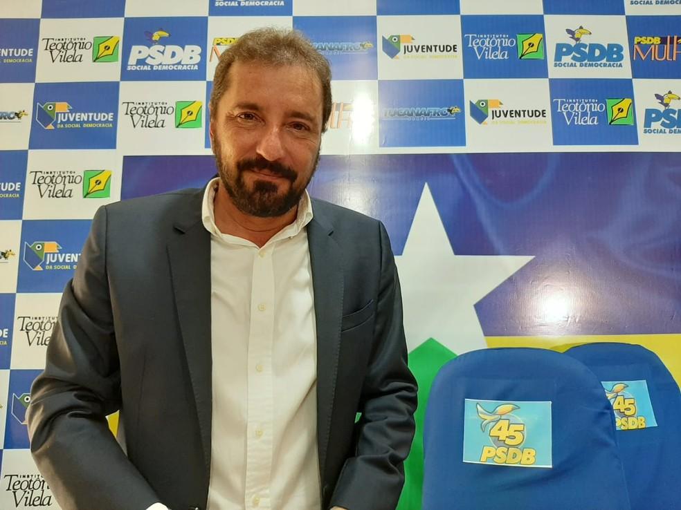 PSDB confirmou Hildon Chaves para concorrer à reeleição para a prefeitura de Porto Velho — Foto: Diêgo Holanda/G1