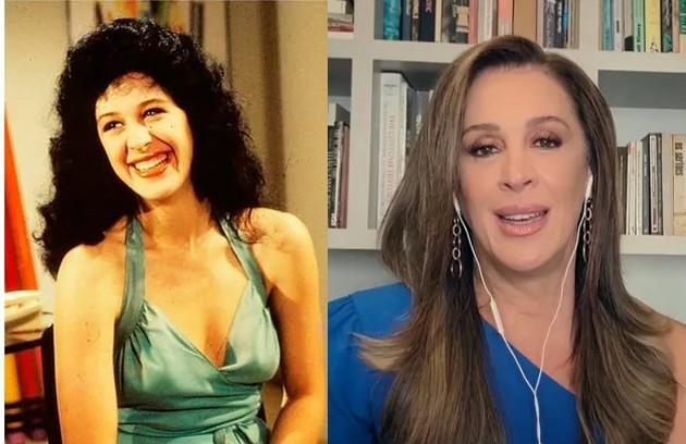 'Sassaricando', estreia de novembro de 1987, está no Globoplay. Claudia Raia foi a feirante Tancinha. A atriz fará a série da Globo 'Paraíso perdido' (Foto: Reprodução)