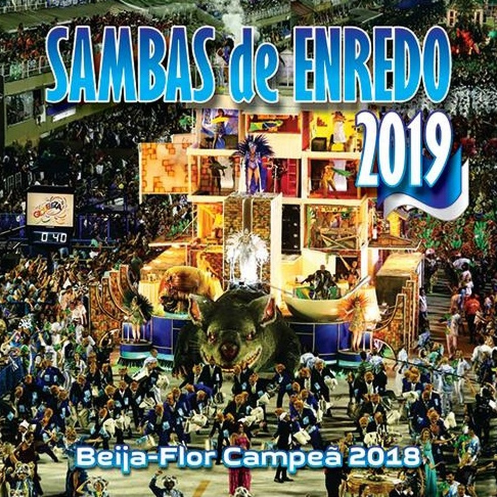 Capa do disco 'Sambas de enredo 2019' — Foto: Divulgação