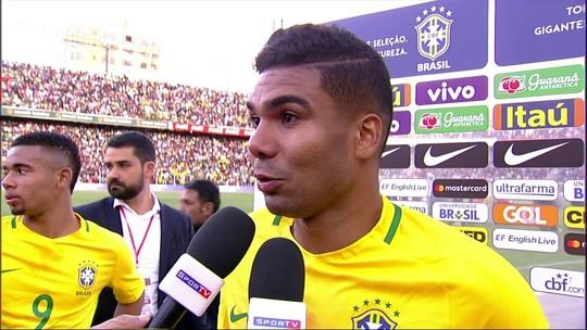 """Para Casemiro, Seleção fez um grande jogo contra a Bolívia: """"Só faltou o gol"""""""