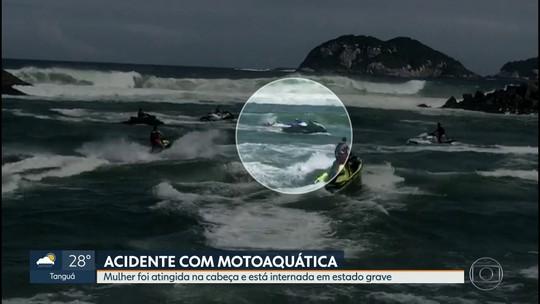 Mulher é gravemente ferida em acidente com motoaquáticas no Canal da Barra, no Rio