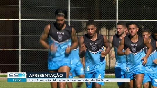 Gol de Loco Abreu e festa da torcida marcam apresentação oficial do Rio Branco-ES
