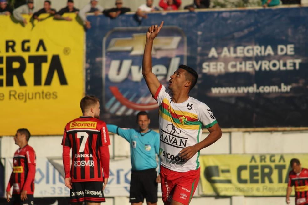 Brusque levou a melhor sobre o Ituano e está na final da Série D — Foto: Lucas Gabriel Cardoso/Brusque FC