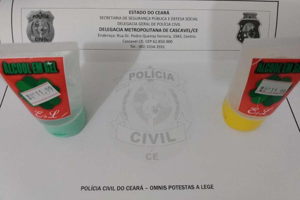 O preço cobrado pelo frasco de 50 gramas do produto saltou de R$ 1,99 para R$ 11,99 — Foto: Polícia Civil