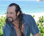 Fernando Pavão caracterizado para 'Pecado mortal' | Michel Angelo/ Record
