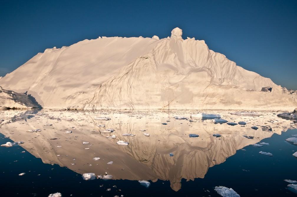 Degelo na baía de Disko, na Groenlândia — Foto: Ian Joughin/Universidade de Washington