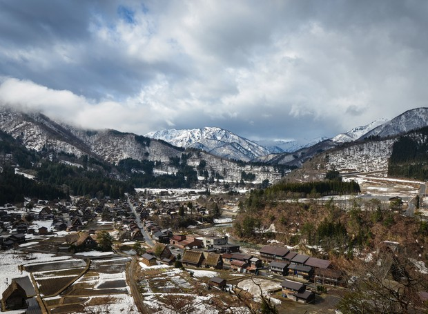 Vila Shirakawa-gō, no Japão (Foto: Thinkstock)