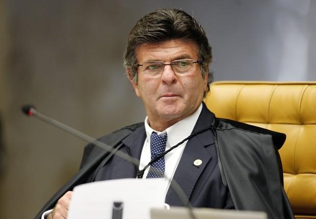 O ministro Luiz Fux durante sessão do STF (Foto: Rosinei Coutinho/SCO/STF)