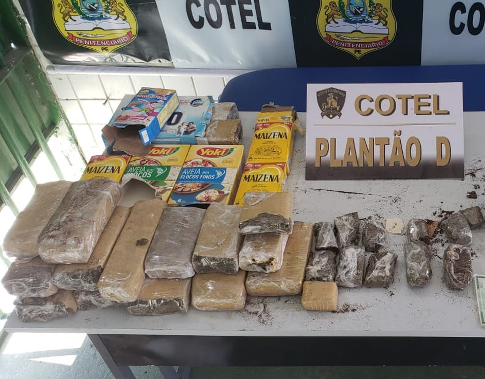 Droga foi apreendida na manhã deste domingo (30) no Cotel, em Abreu e Lima, no Grande Recife — Foto: Sindasp-PE/Divulgação