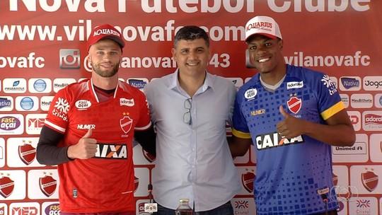 Prováveis titulares no início do Goianão, Patrick e Saulo são apresentados no Vila Nova