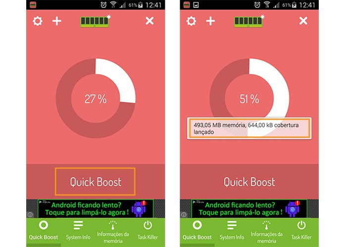 Fazendo a otimização na memória do Android (Foto: Reprodução/Barbara Mannara)