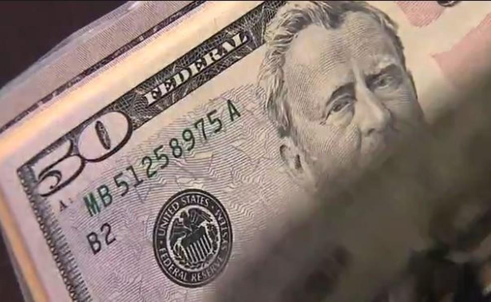 Dólar — Foto: Reprodução/TV Globo