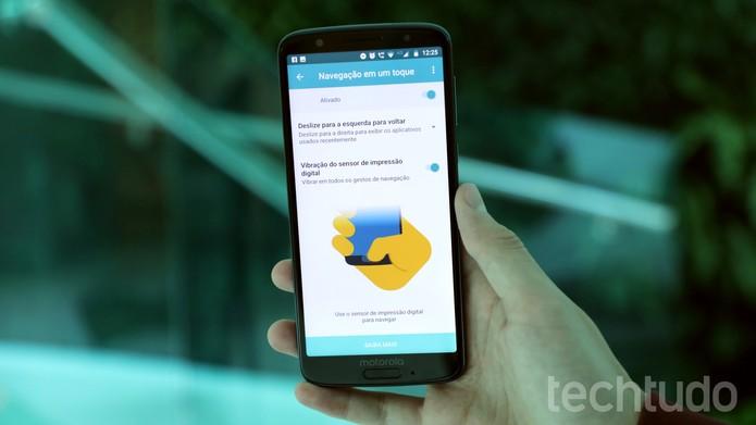 OneNav: navegação com um toque marca investidas da Motorola em sistema com recursos extras (Foto: Bruno De Blasi / TechTudo)