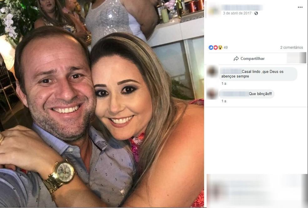 Casal Roberto Santos Oliveira e Erica Cristina Carpi Oliveira foi preso pela PF em Jales (Foto: Reprodução/Facebook/Arquivo)