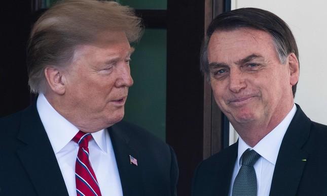 Presidente dos EUA, Donald Trump se encontra com presidente do Brasil, Jair Bolsonaro