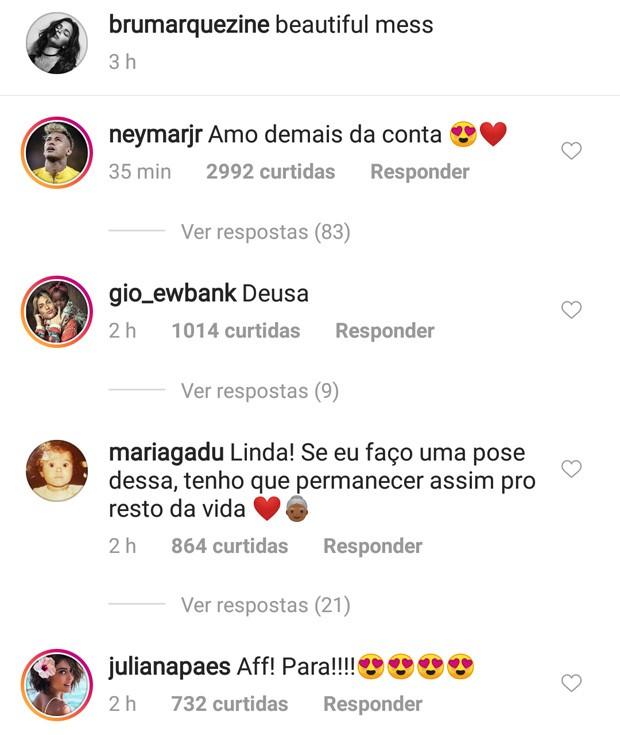 Bruna Marquezine reebe elogios de famosos (Foto: Reprodução)