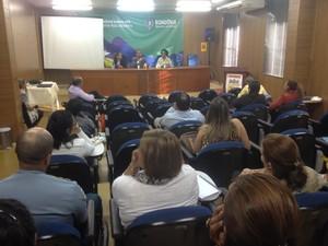 Seminário aconteceu na tarde desta sexta, 24, em Porto Velho, com participação de representantes do Ministério do Turismo (Foto: Mary Porfiro/G1)