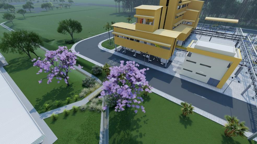 Projeto da planta industrial da nova fábrica de biodiesel da AMAGGI em Lucas do Rio Verde. — Foto: Divulgação