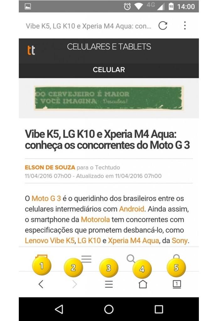 VC Browser (Foto: Reprodução/Felipe Alencar)