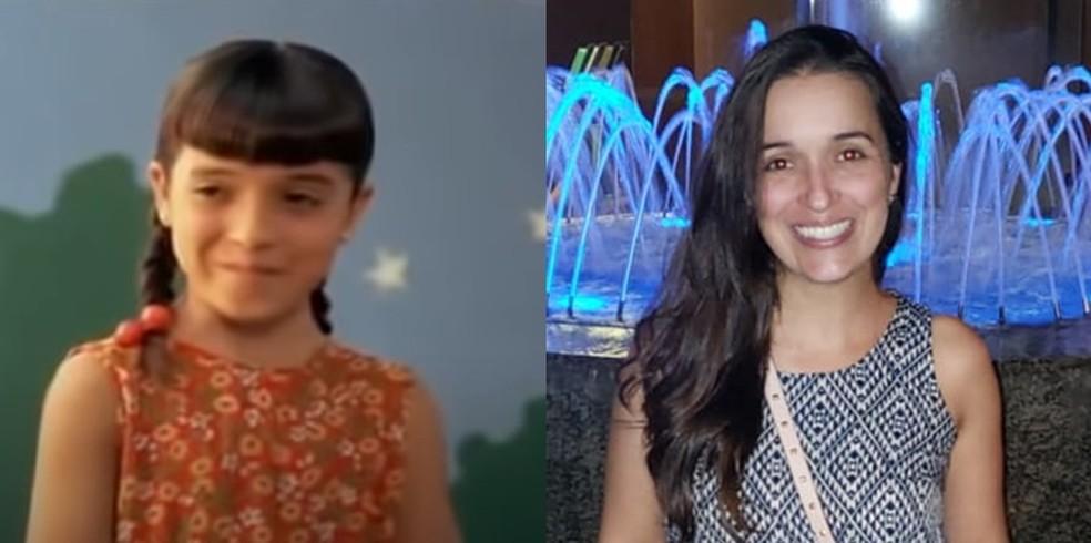 A atriz Carolina Galvo que interpretou a Carol em imagem do filme lanado em 1995 e em 2020 Foto Reproduo e arquivo pessoal