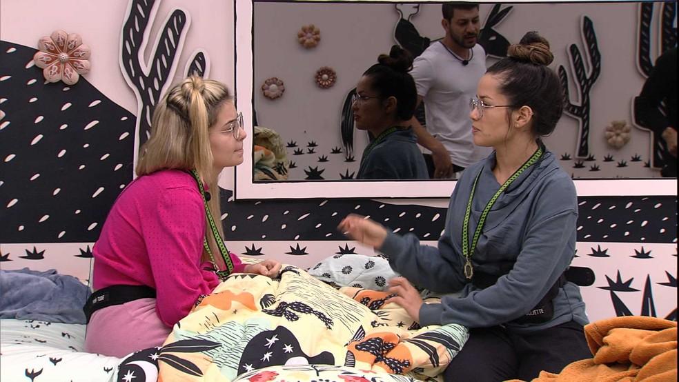 No Quarto Cordel, Juliette confidencia a Viih Tube: 'O meu comportamento vai mudar' — Foto: Globo