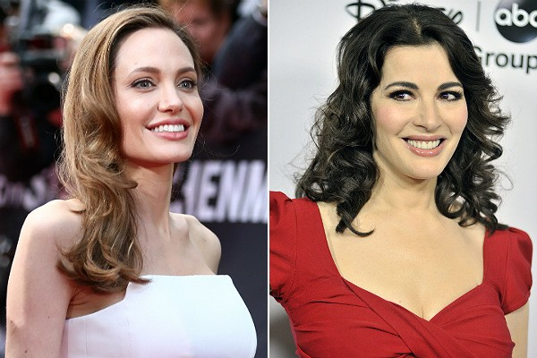 Angelina Jolie e Nigella Lawson (Foto: Getty Images)