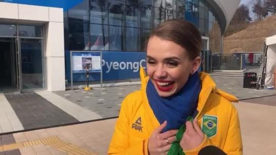 Isadora será a porta-bandeira do Brasil na cerimônia de encerramento