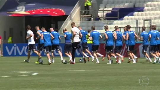 Islândia e Nigéria se enfrentam pelo grupo D da Copa do Mundo