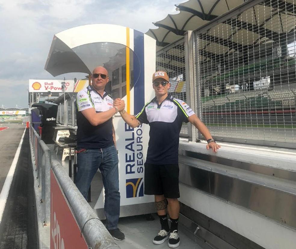 Romero e Eric: um teste na moto de MotoGP pode ocorrer em breve... — Foto: Divulgação