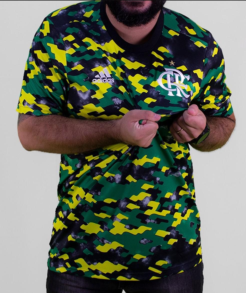Nova camisa pré-jogo do Flamengo — Foto: Reprodução