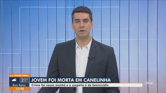 Mulher é morta com tiro no rosto na Grande Florianópolis; namorado é suspeito, diz polícia