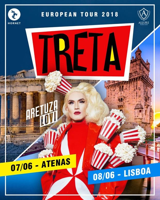Cartaz da Treta Festa com Aretuza Lovi na Europa (Foto: Divulgação)