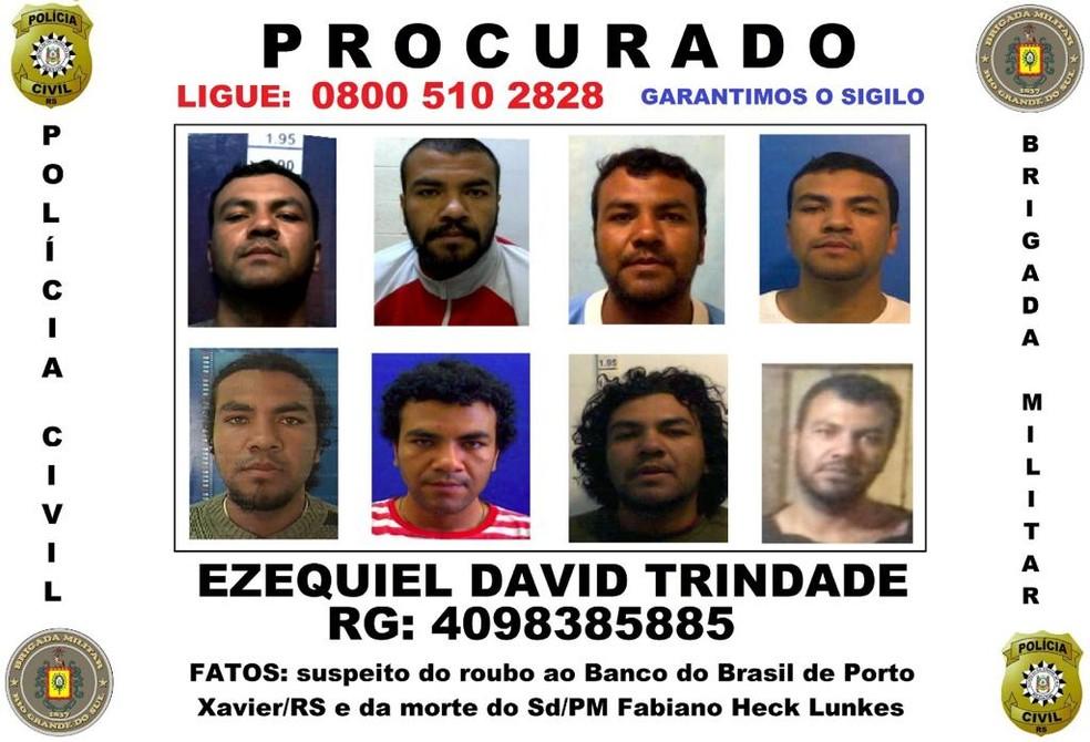 Suspeito apontado pela polícia como autor do disparo que matou soldado da BM — Foto: Divulgação/Polícia Civil